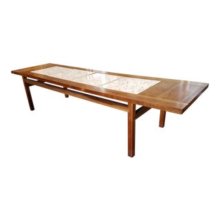 Fantastic Party Worthy MCM John Keal Tile Top Table For Sale