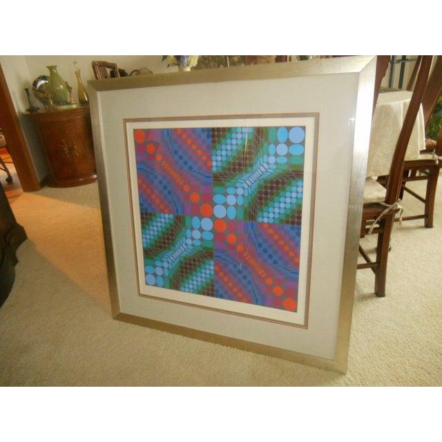 Victor Vasarely Op Art Silkscreen - Image 5 of 8