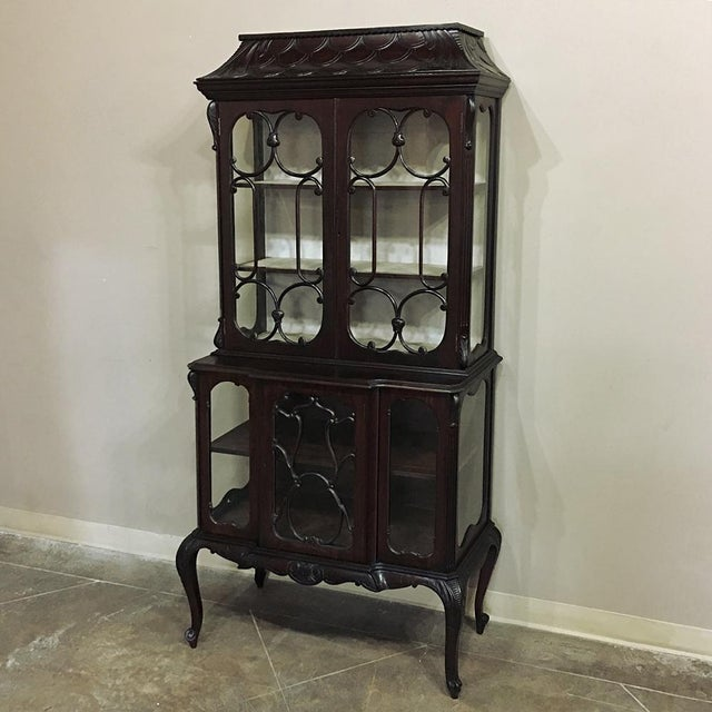 19th Century English Curio Cabinet For Sale - Image 13 of 13
