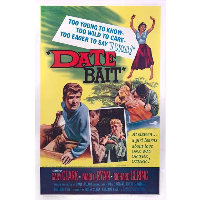 Date Bait Linen-Mounted 1960 Movie Poster - Image 2 of 2