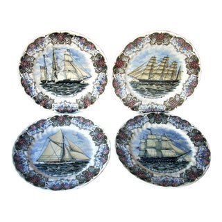 Churchill Currier & Ives Plates - Set of 4 For Sale