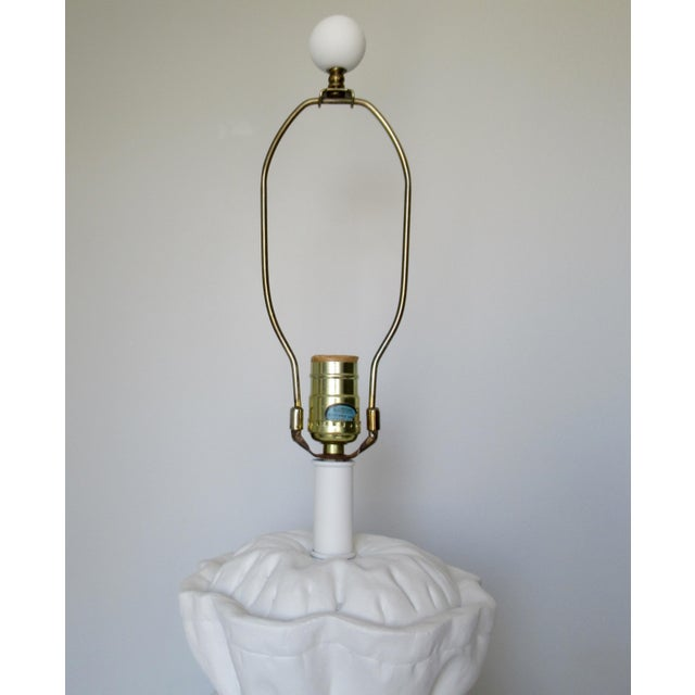 John Dickinson-Style Draped Plaster Rope Cinched Lamp For Sale - Image 9 of 13