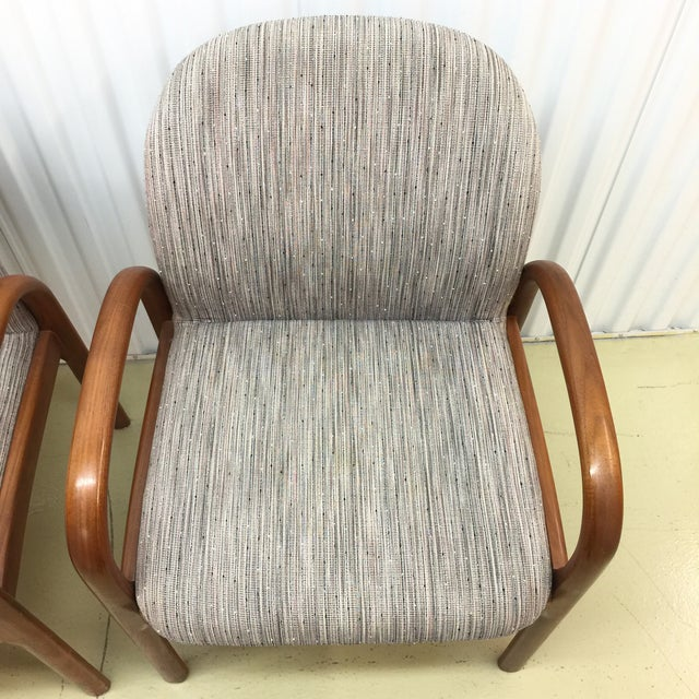 Mid-Century Gunlocke Walnut Chairs - A Pair - Image 8 of 11