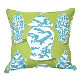 Dana Gibson Dragon Ginger Jar Pillow For Sale