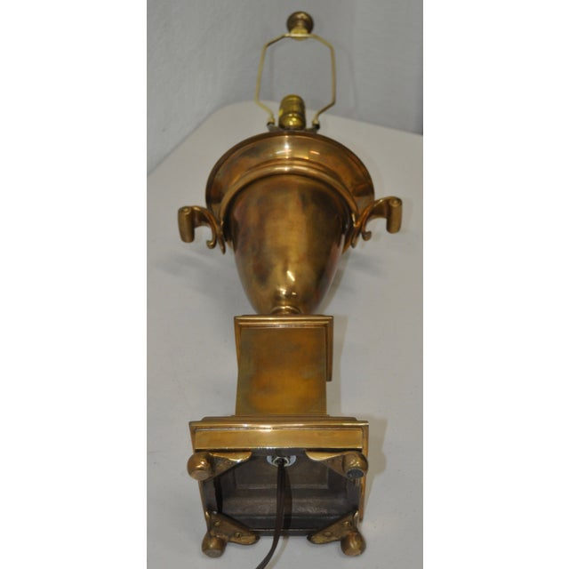 Brass Urn on Plinth Table Lamp - Image 5 of 6