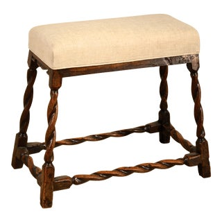 17th Century Antique English Oak Bench For Sale