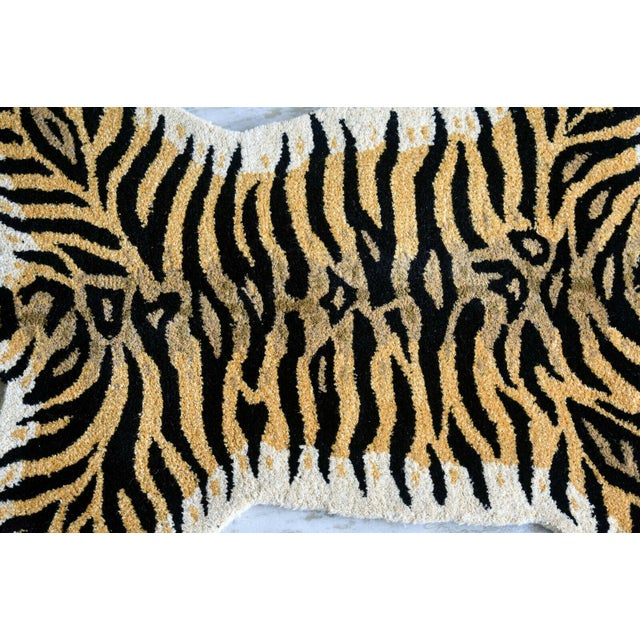 Boho Chic 1990s Vintage Tiger Style Persian Rug - 3′ × 5′ For Sale - Image 3 of 7