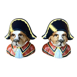 Vintage Ceramic Admiral Dog Coin Banks - a Pair For Sale