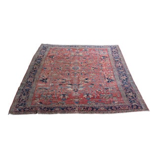 Antique Distressed Persian Serapi Heriz 9x12 For Sale