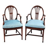 Image of 19th Century Rosewood Armchairs - a Pair For Sale