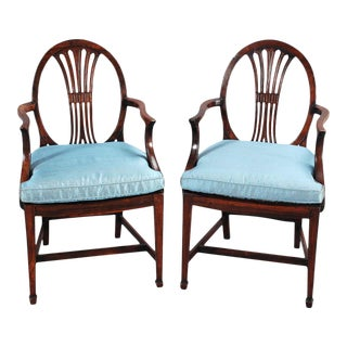 19th Century Rosewood Armchairs - a Pair For Sale