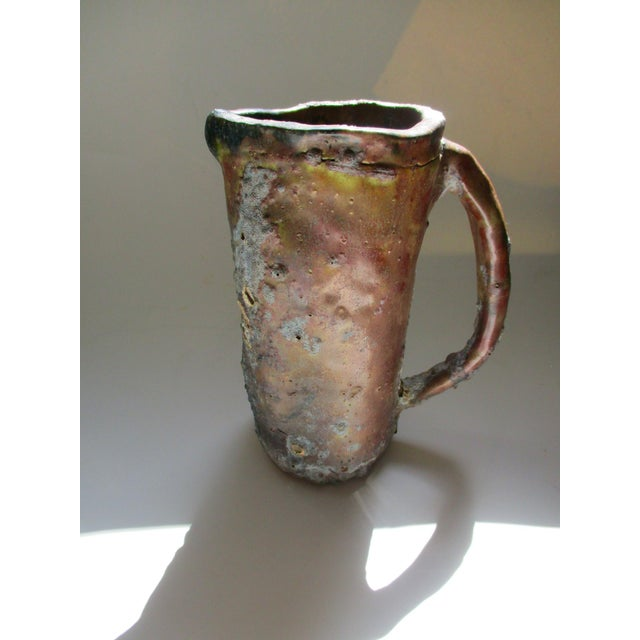 Brutalist Thick Glazed Pitcher Vase - Image 8 of 10
