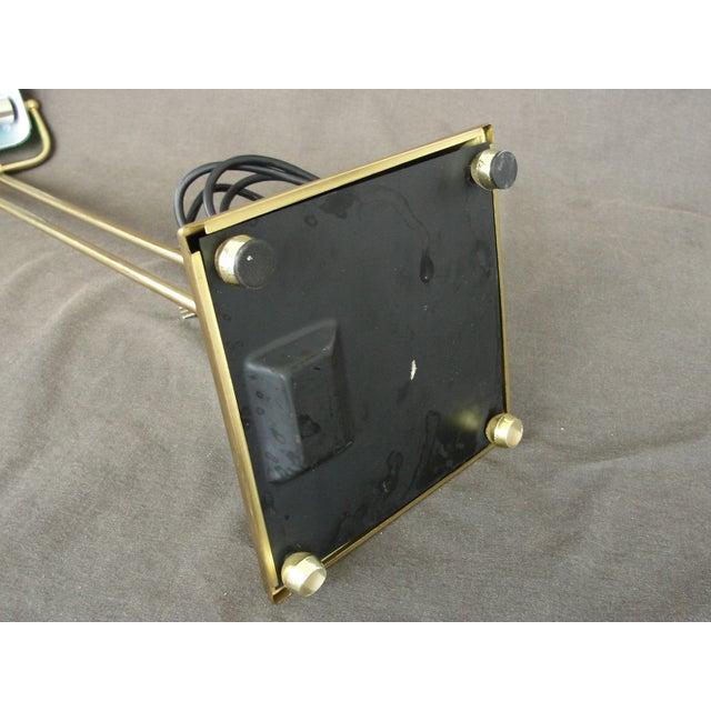 Tall Brass & Green Banker's Desk Lamp - Image 6 of 7