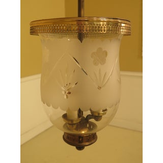 Bell Form Vintage Brass Small Hanging Chandelier Fixture Preview