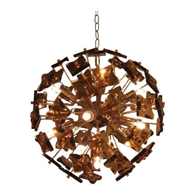 Fontana Arte Sputnik Chandelier Bronze Glass - Image 1 of 8