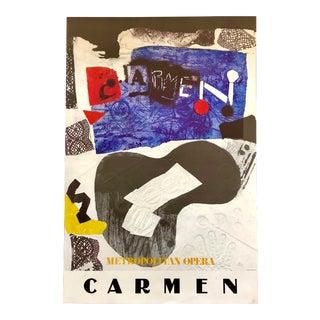 Antonio Clave Carmen Poster Metropolitan Opera '78