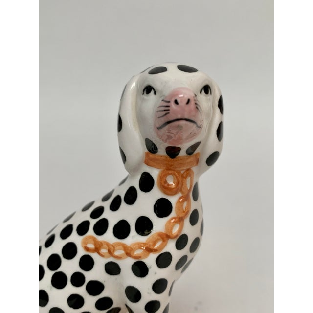 Staffordshire Style Porcelain Dalmatian Dog Bookends – a Pair For Sale In New York - Image 6 of 8