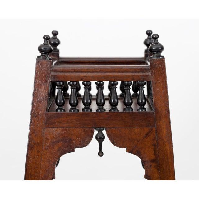 Mid 19th Century Antique English Regency Mahogany and Ebonized Wood Etageres For Sale - Image 5 of 7