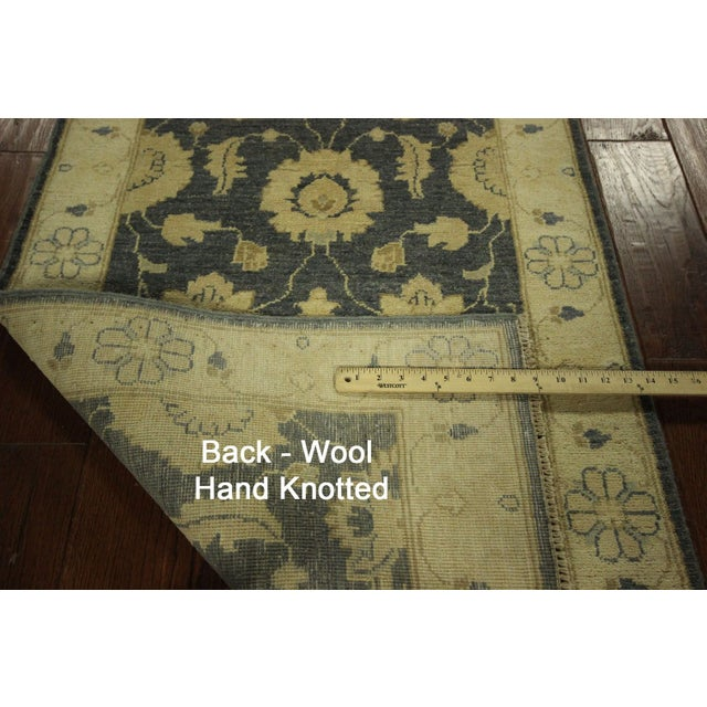 Runner Pakistani Chobi Blue Wool Rug - 3' x 8' - Image 8 of 8