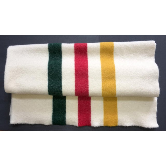 1960s Vintage 1960s Wool Blanket For Sale - Image 5 of 5