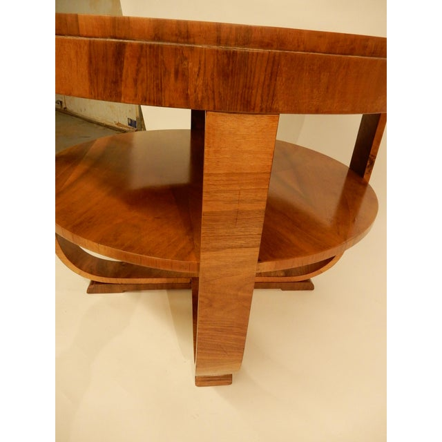 1930s Art Deco Walnut Side Table For Sale - Image 5 of 6