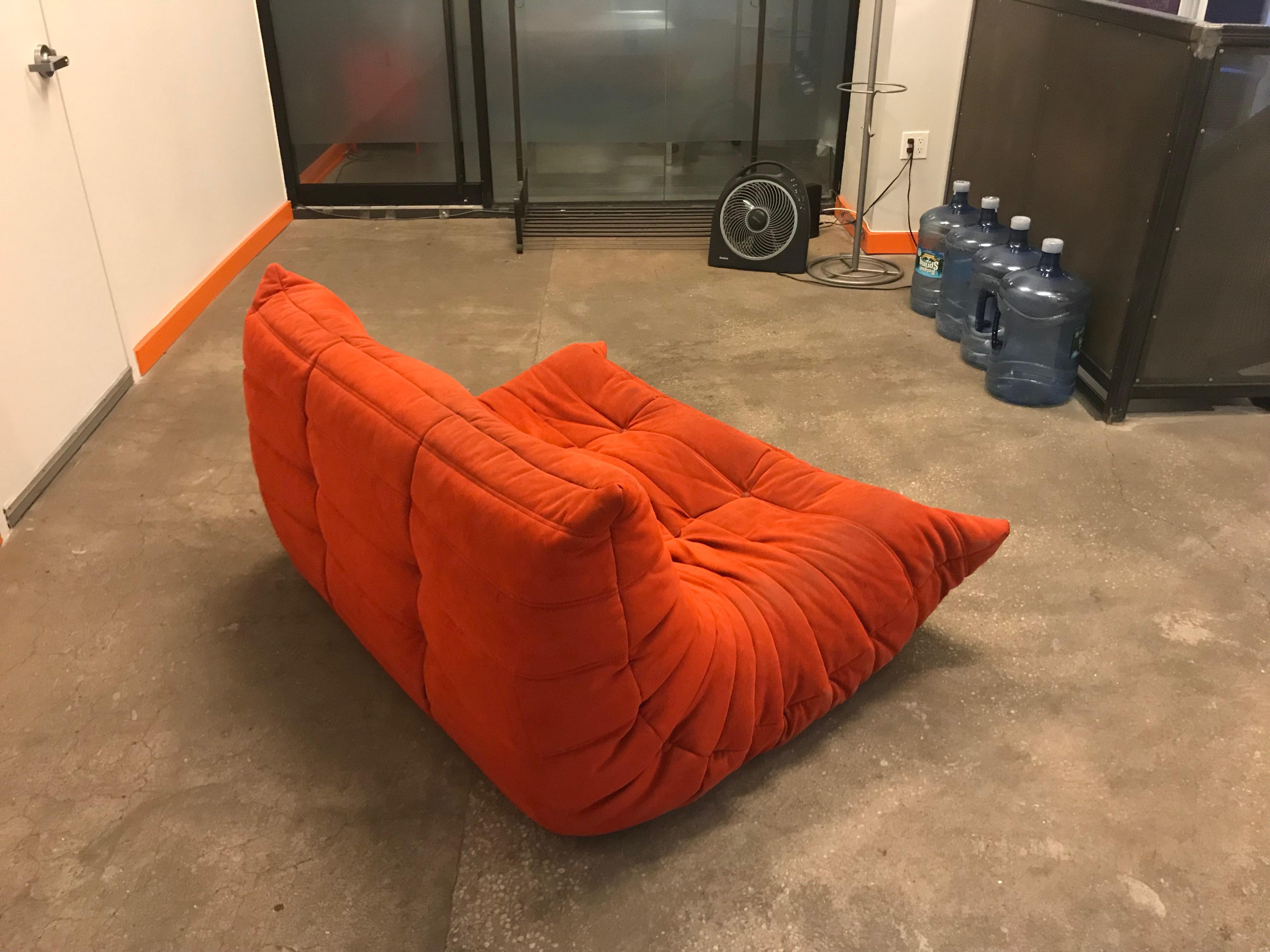 Bon Orange Ligne Roset Togo Sofa For Sale   Image 8 Of 11