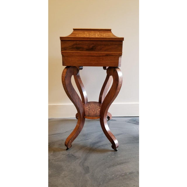 Charles X Inlaid Rosewood Ladies Vanity, Early 19th Century For Sale In San Francisco - Image 6 of 13