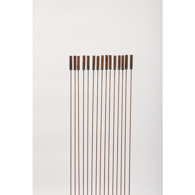 "Metal Large Val Bertoia 15-Rod ""Curve of Sounding Cat Tails"" Sculpture, 2016 For Sale - Image 7 of 13"