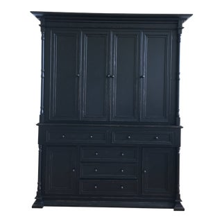 Old Biscayne Reilly Rustic Black Plasma Tv Cabinet