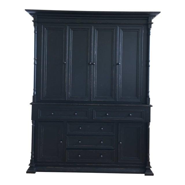 Old Biscayne Reilly Rustic Black Plasma Tv Cabinet For Sale