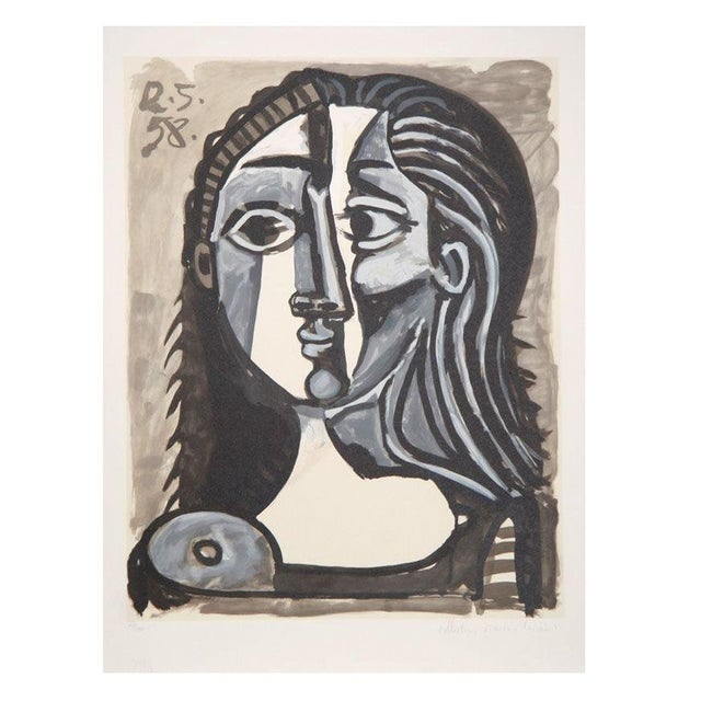 Pablo Picasso - Tete De Femme Lithograph - Image 1 of 2
