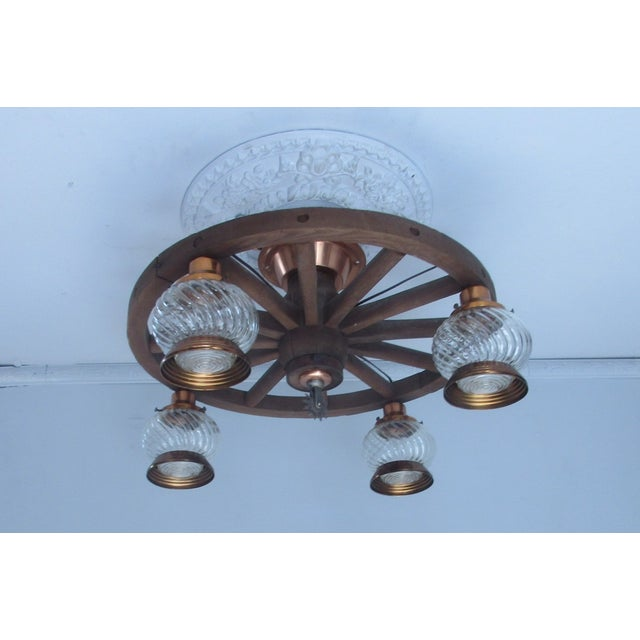 Wagon Wheel Country Western Chandelier - Image 2 of 7
