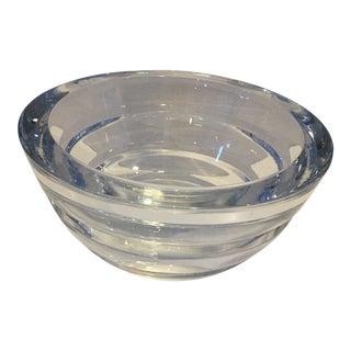 1990s Vintage Sasaki Japan Crystal Contemporary Bowl For Sale