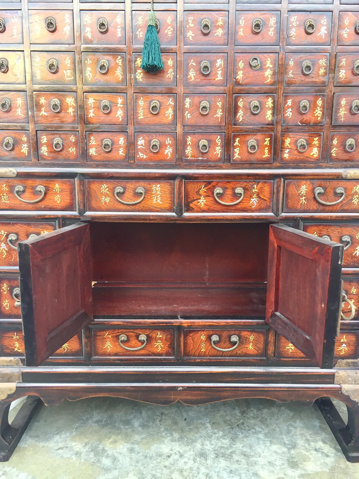 Vintage Chinese Apothecary Cabinet Medicine Storage Chest For Sale   Image  4 Of 10
