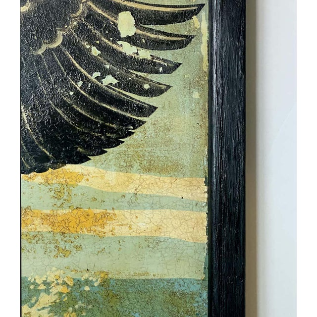 """Vintage English Pub Sign, """"The Black Swan"""" For Sale - Image 9 of 13"""