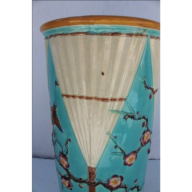 Vintage Hand Painted Ceramic Umbrella Stand - Image 4 of 8