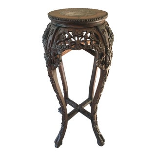 Antique Carved Chinese Plant Stand