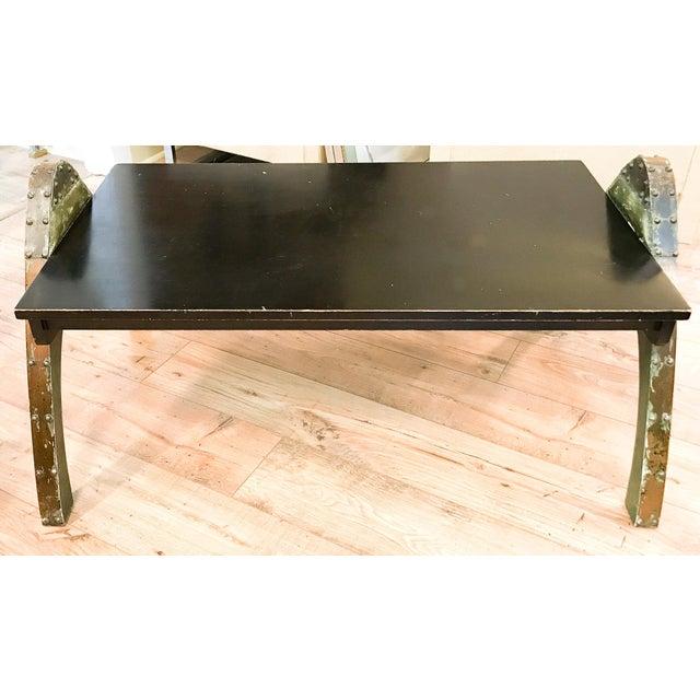 Mid Century Paul Evans Brutalist Metal Coffee Table - Image 6 of 10