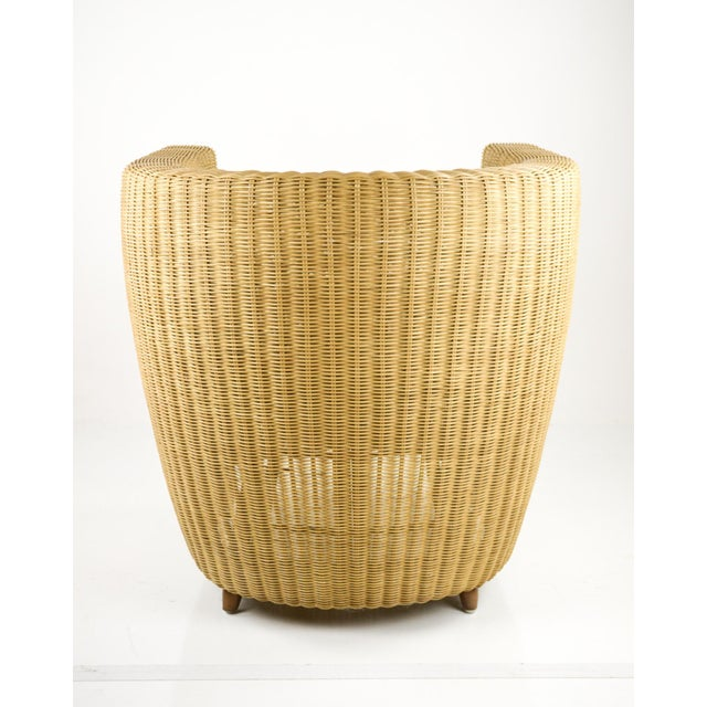 Mid-Century Modern Wicker Tub Chairs - Pair For Sale In Philadelphia - Image 6 of 11