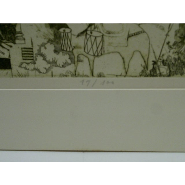 Circa 1980 Limited Edition Ralelain Iv Signed Print For Sale - Image 5 of 6