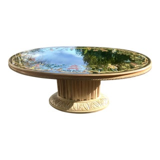 French Hollywood Regency/Jansen Style Verre Eglomise/Mirrored Coffee Table