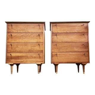 Vintag Furniture Guild Mid Century Highboys - a Pair For Sale