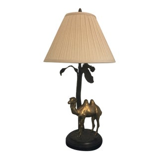 Brass Camel Table Lamp For Sale