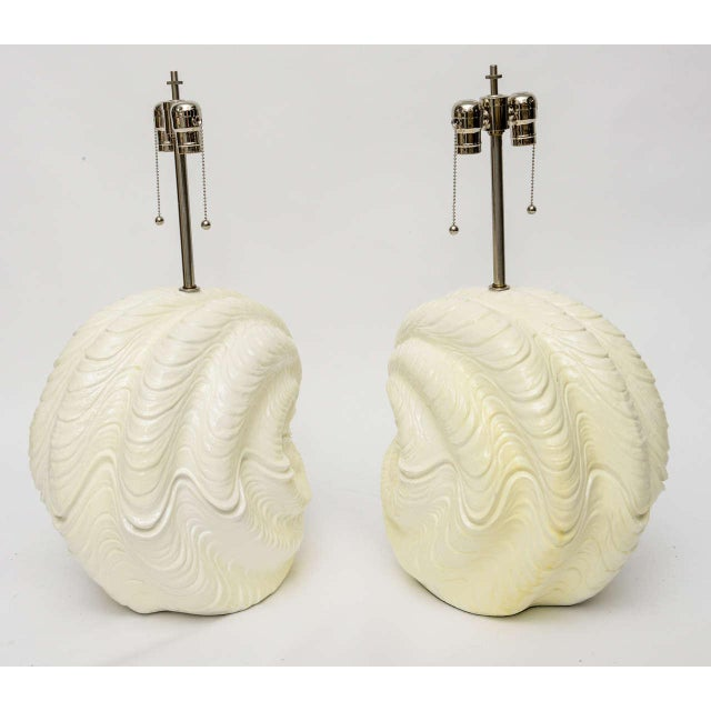Mid-Century Modern Serge Roche Shell Lamps, Oversized from the 1960s For Sale - Image 3 of 9