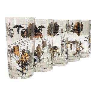 "Mid Century Modern Mad Men ""Doctor"" Glassware Set (5)"