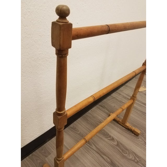 Late 19th Century Antique English Pine Quilt or Towel Stand For Sale - Image 5 of 13
