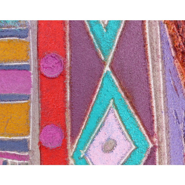 """1980s """"Primitive Geometric Spear"""" Mixed Media Painting For Sale - Image 5 of 13"""