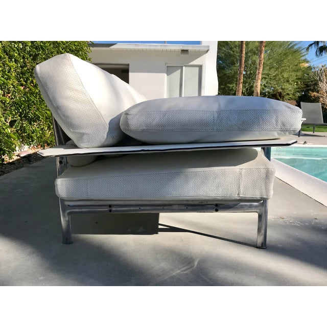 1970s Vintage Antonio Citterio for B & B Italia White Leather Diesis Sofa For Sale In Palm Springs - Image 6 of 12