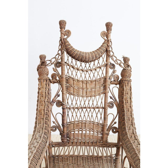 19th Century Heywood Wakefield Wicker Platform Rocker For Sale - Image 10 of 13