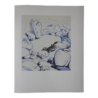 Vintage Ltd. Ed Woodcuts by J. Kefalleno-Greece-Crab
